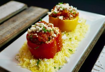 GREEK-STYLE TURKEY STUFFED PEPPERS | FIT