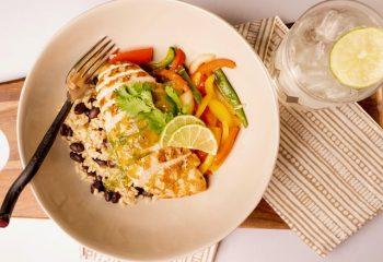 CILANTRO-LIME CHICKEN FAJITAS | Gluten Free