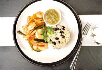 SKILLET SHRIMP FAJITAS | Gluten Free